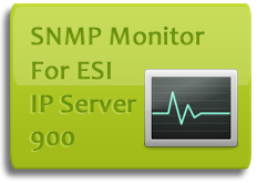 Monitor line usage, hardware status, and more on your ESI IP Server 900 phone system via SNMP.  Receive emails when hardware goes offline or certain thresholds you specify are reached.