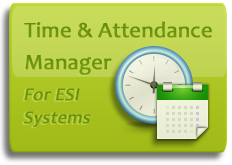 Keep track of employee time and attendance with this software designed for ESI phone systems