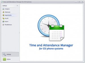 Time and Attendance Main Screen